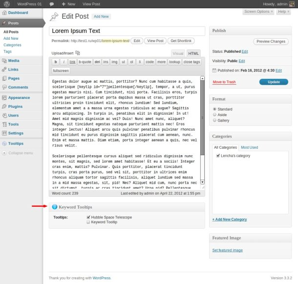 Back End Functionaliteit: Bericht Editor