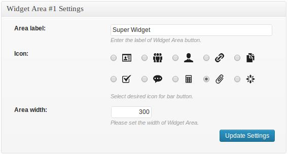 Widget Area Pack - Free Multi-X Bar Add-on