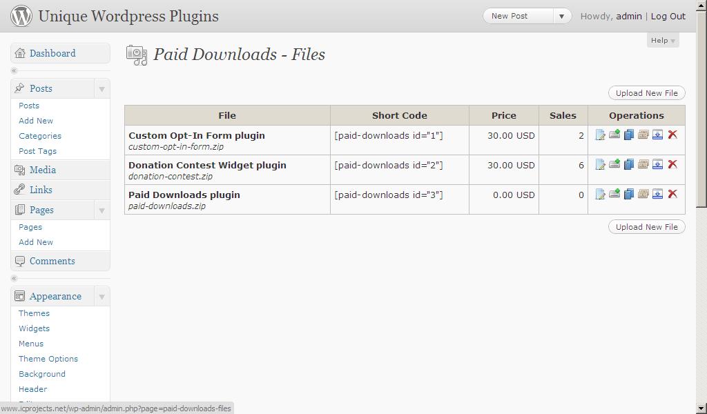 Paid Downloads plugin