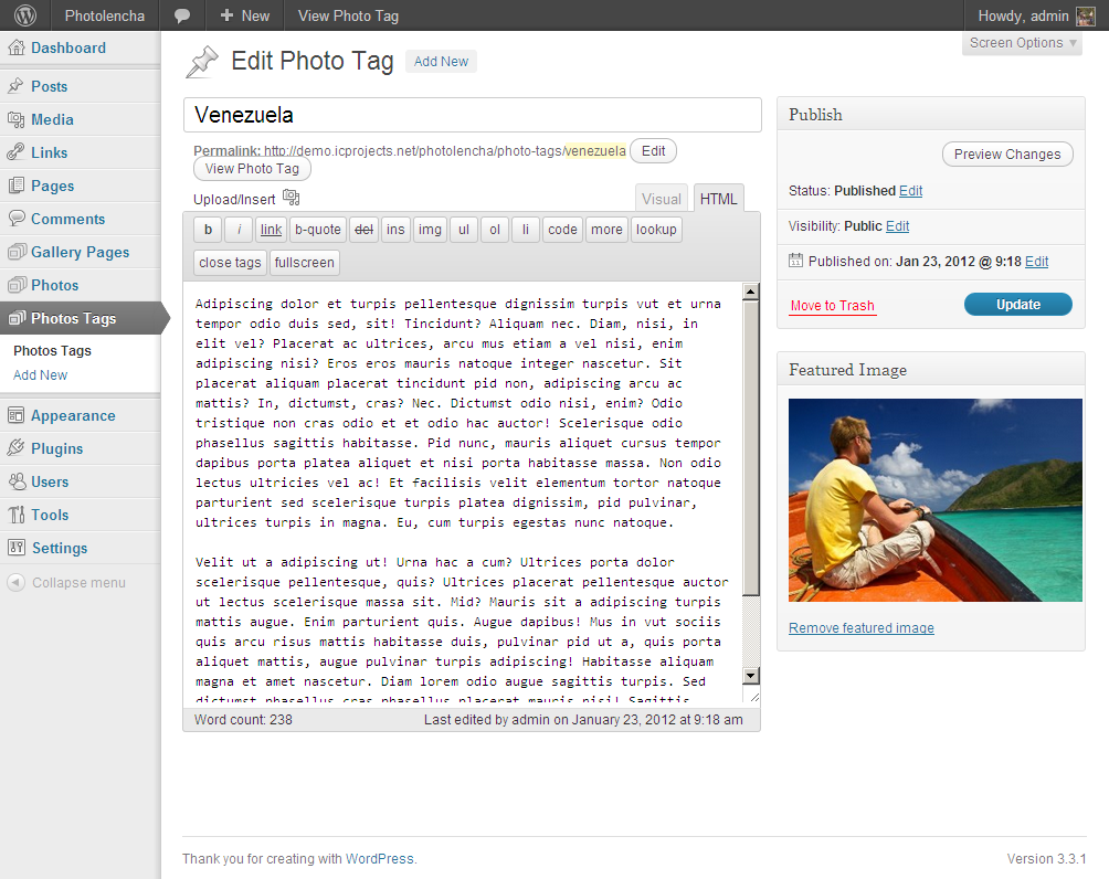 Photolencha: Create Photo Tag
